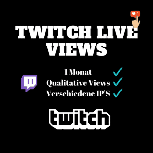 Twitch Live Views kaufen - 1 Monat