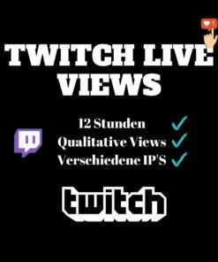 Twitch Live Views kaufen - 12 Stunden