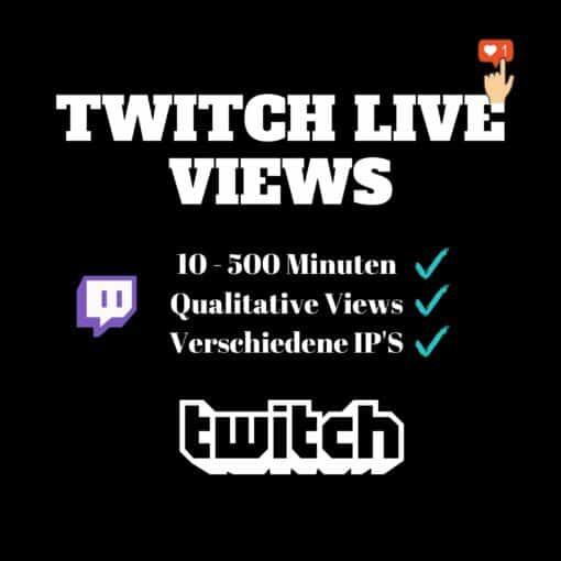Twitch Live Views kaufen 1 woche